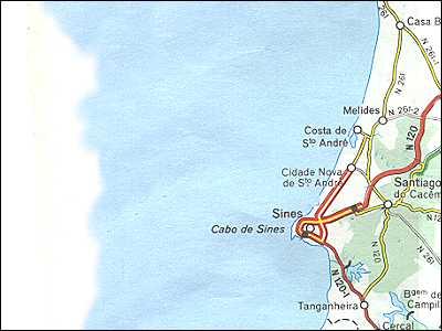 Portugal Maps Alentejo Sines - Portugal map sines