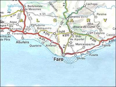 Portugal Maps Algarve Faro