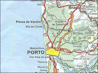 Portugal Maps Costa Verde Porto